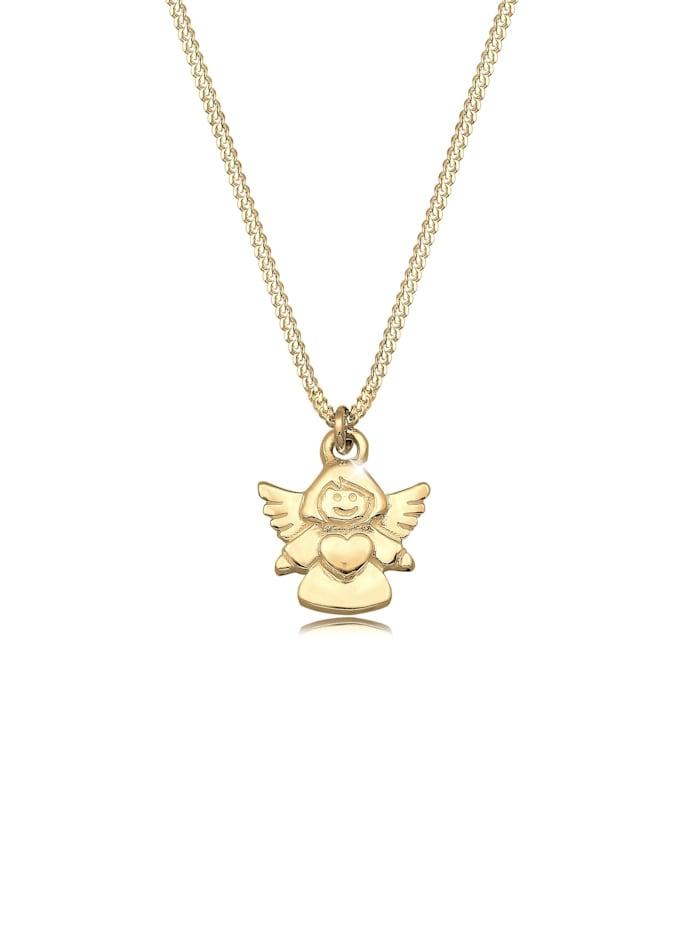 Elli Premium Halskette Kinder Engel Taufe Kommunion Talisman 375 Gelbgold, Gold