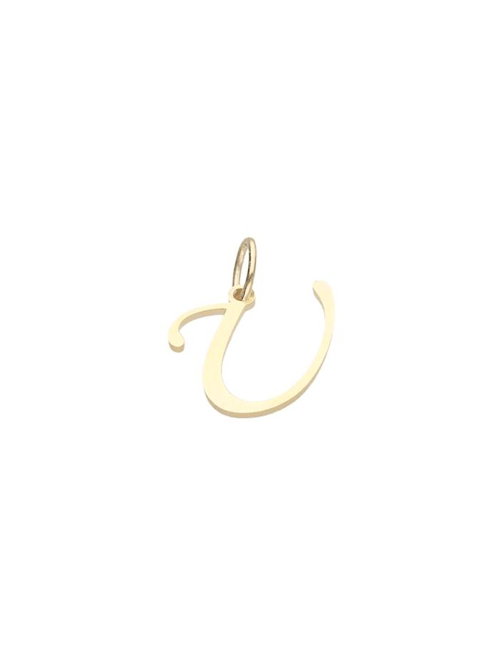 Luigi Merano Anhänger Buchstabe U, Gold 333, Gold