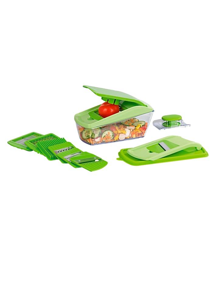 GOURMETmaxx 15tlg. Schneidprofi Chop'n Slice Pro, grün