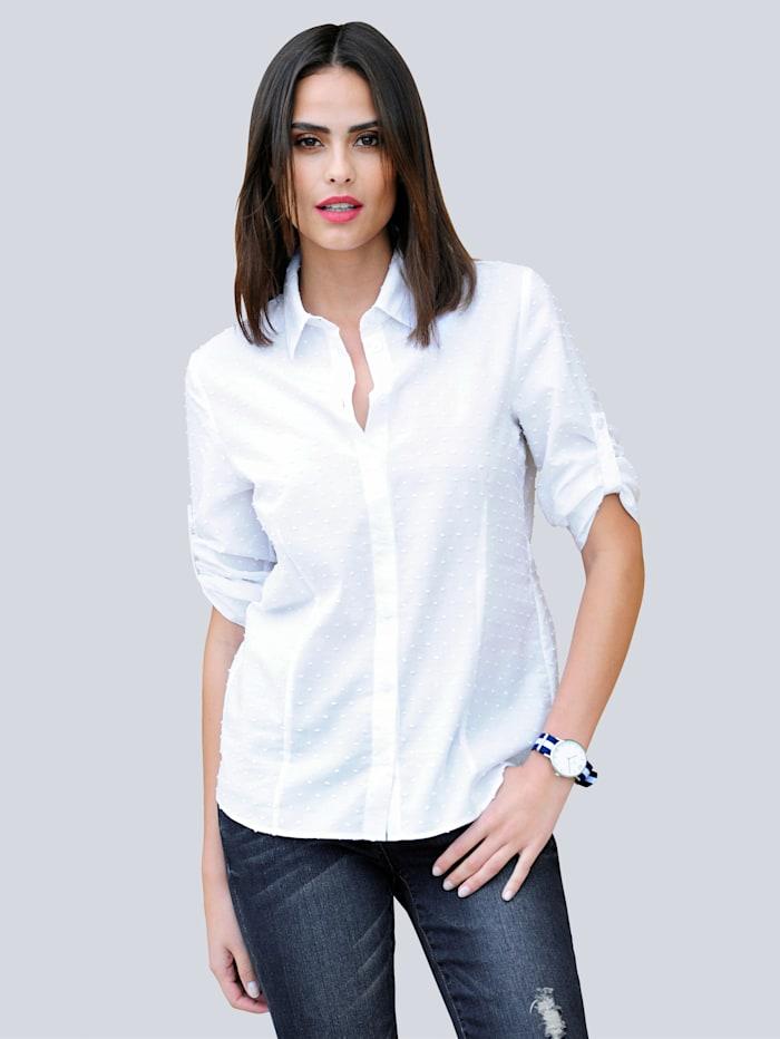 Alba Moda Pilkullinen paitapusero, Valkoinen