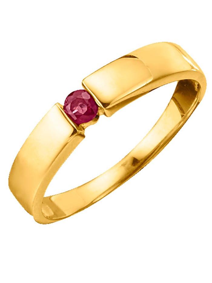 Damenring mit Rubin, Rot