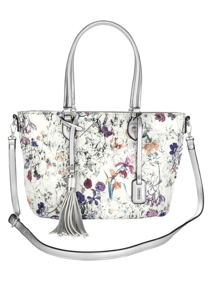 Remonte Shopper in schönem floralem Design, silberfarben/multi