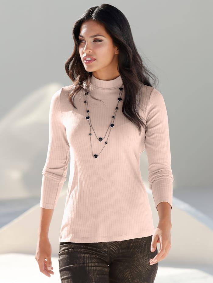 AMY VERMONT Shirt mit Stehbund, Rosé