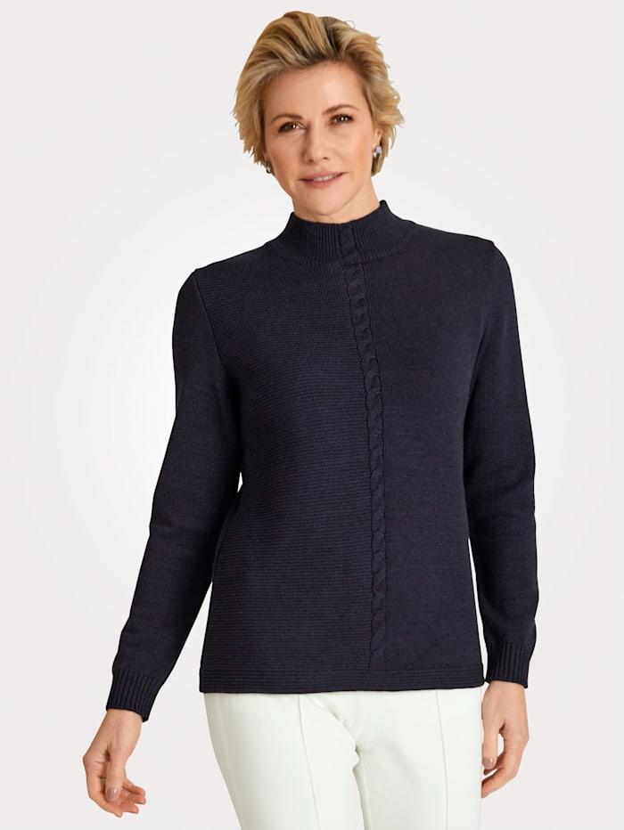 MONA Pullover mit Zopfmuster, Lila