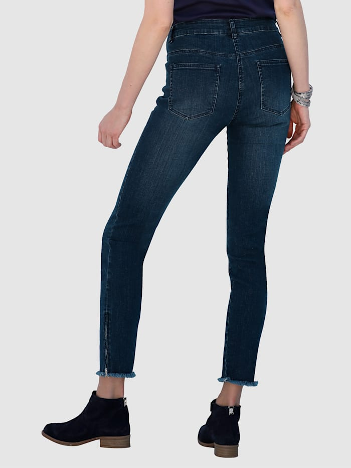 Jean Coupe Laura Extra Slim - bas de jambs frangé
