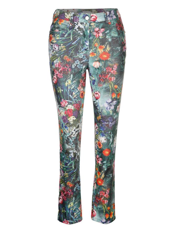Pantalon à motif imprimé fantaisie