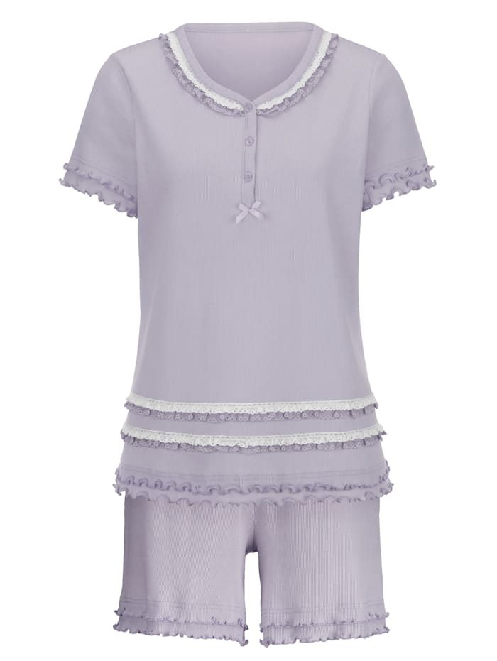 Pyjashort avec une ravissante dentelle