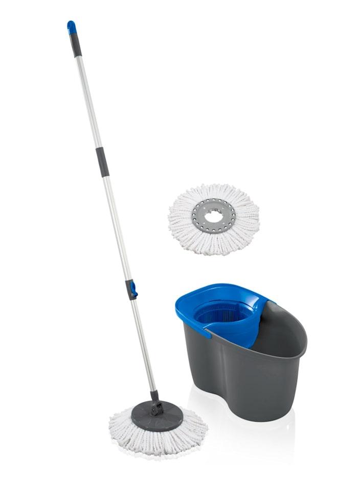 Leifheit LEIFHEIT Set 'Rotation Disc Mop 60 Years Edition', blau/grau
