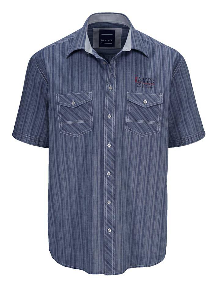 BABISTA Hemd mit zwei verschließbaren Brusttaschen, Marineblau