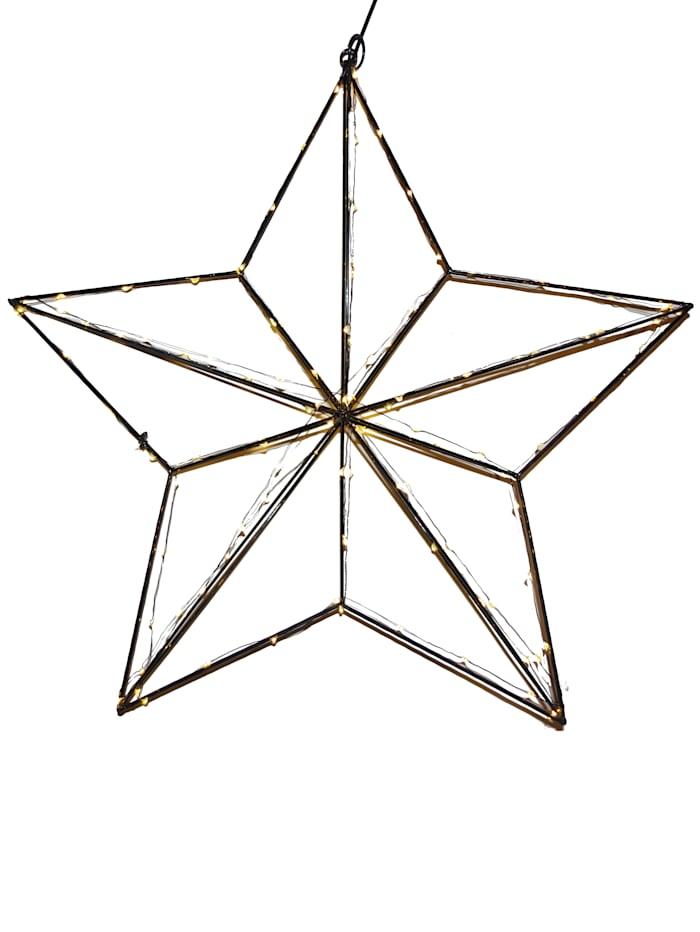 Star LED-Hänge-Stern, schwarz