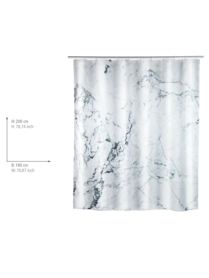 Duschvorhang Onyx, Textil (Polyester), 180 x 200 cm, waschbar