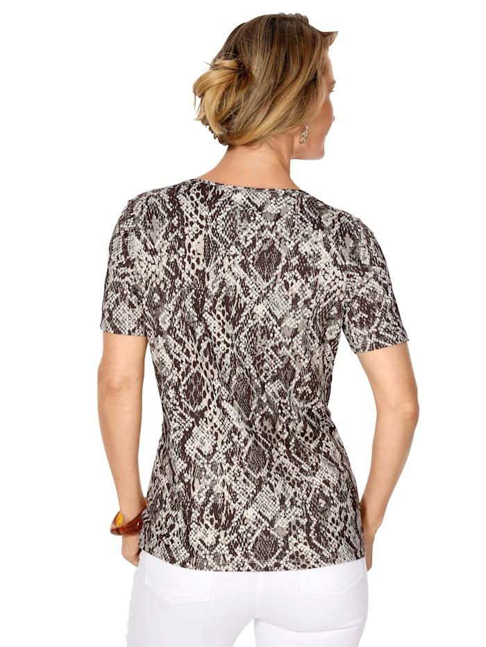 Shirt met reptieldessin