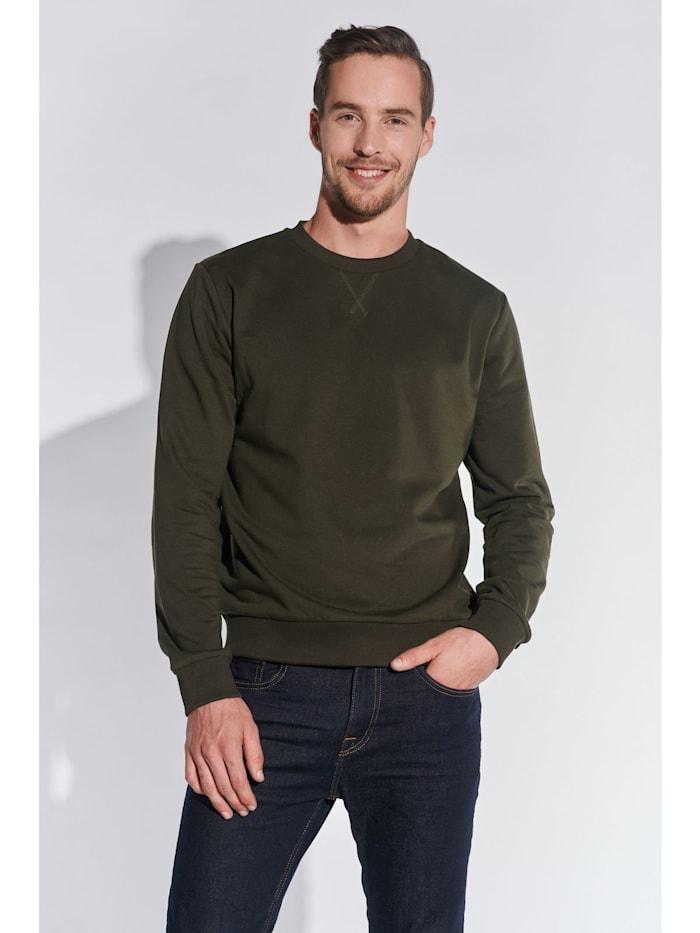 Steffen Klein Herren Basic Sweatshirt, Khaki