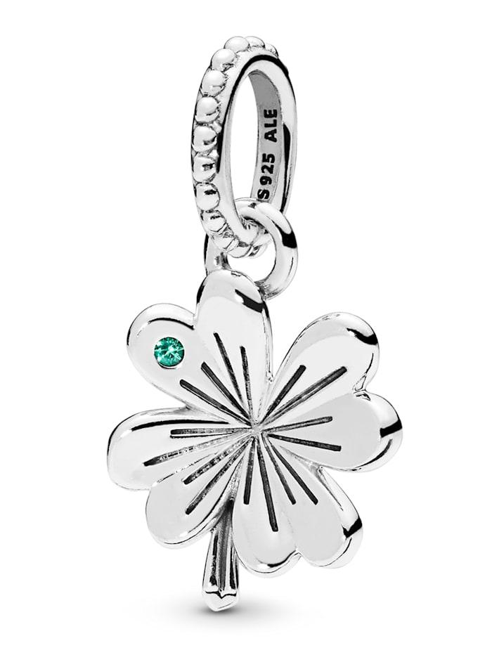 Pandora Charm-Anhänger -Glücks-Kleeblatt-, Silberfarben
