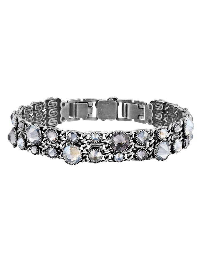 Konplott Armband mit Swarovski Kristallen 5450543465289, Weiß