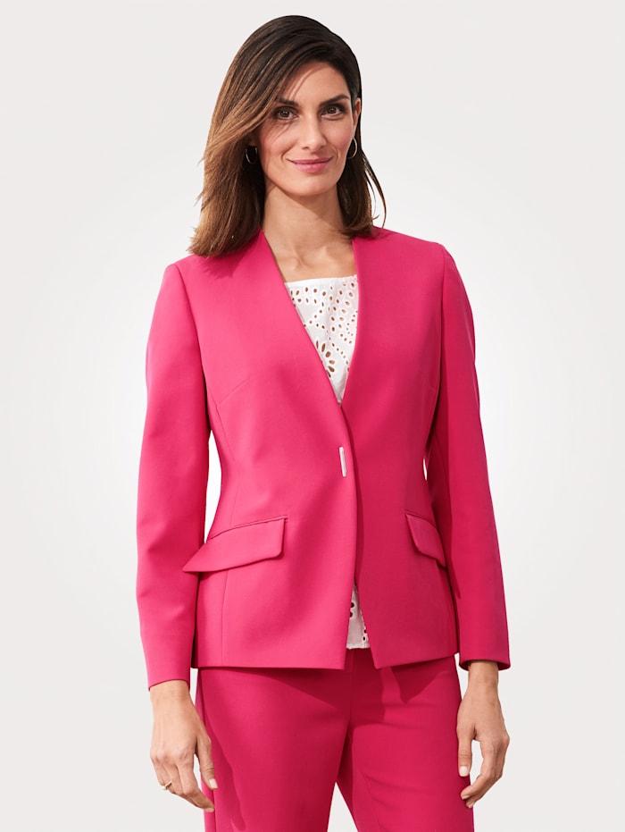 MONA Blazer mit Zierschnalle, Pink