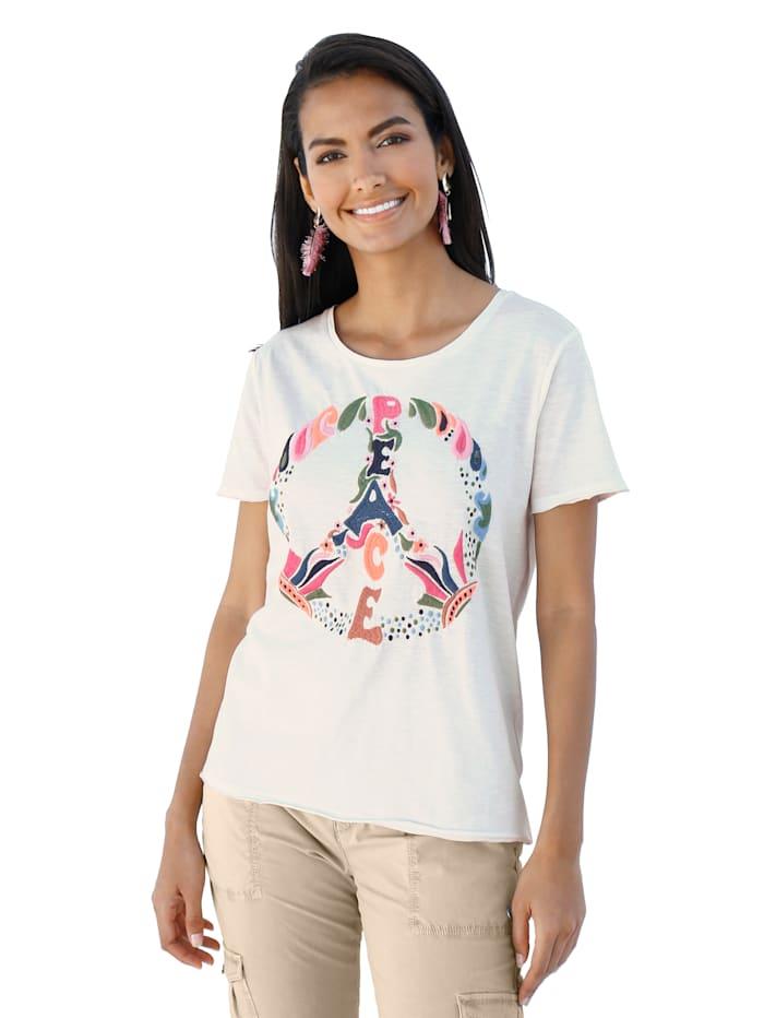 Lieblingsstück Shirt met Peace-teken, Offwhite