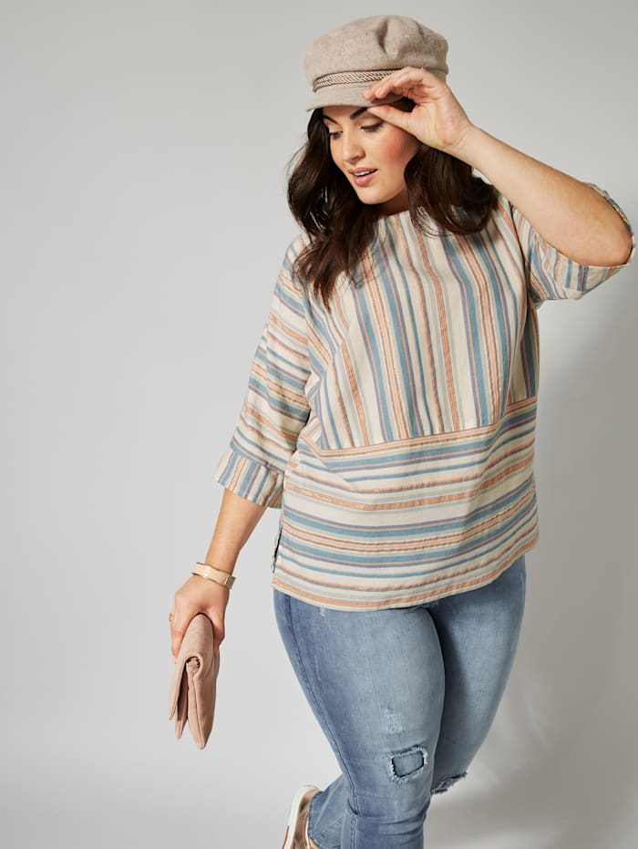 Bluse gestreift in Oversize-Form