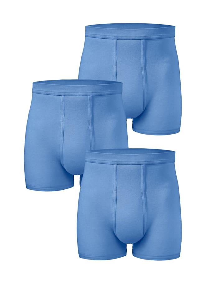 HERMKO Boxerkalsong i märkeskvalitet, Ljusblå
