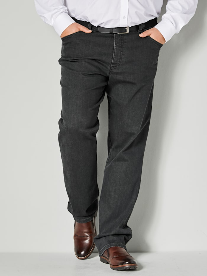 Men Plus Swing-Pocket Jeans Spezialschnitt, Dark grey