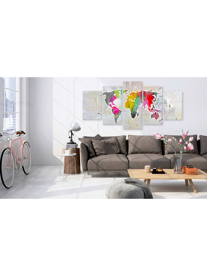 Wandbild Illustration of the World