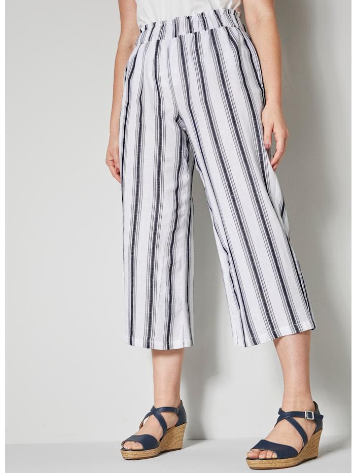 Raidalliset culottes-housut