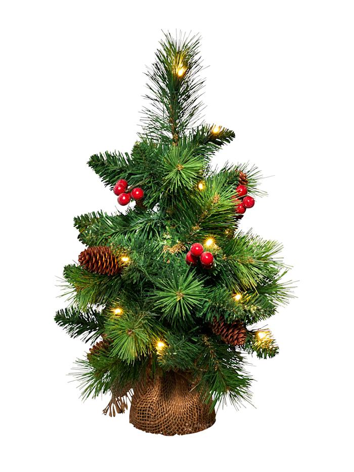 Näve LED-Weihnachtsbäumchen, grün