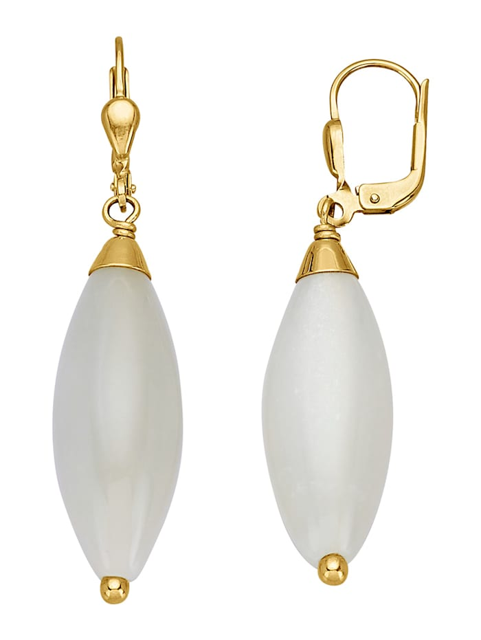 Boucles d'oreilles à pierre de lune, Blanc