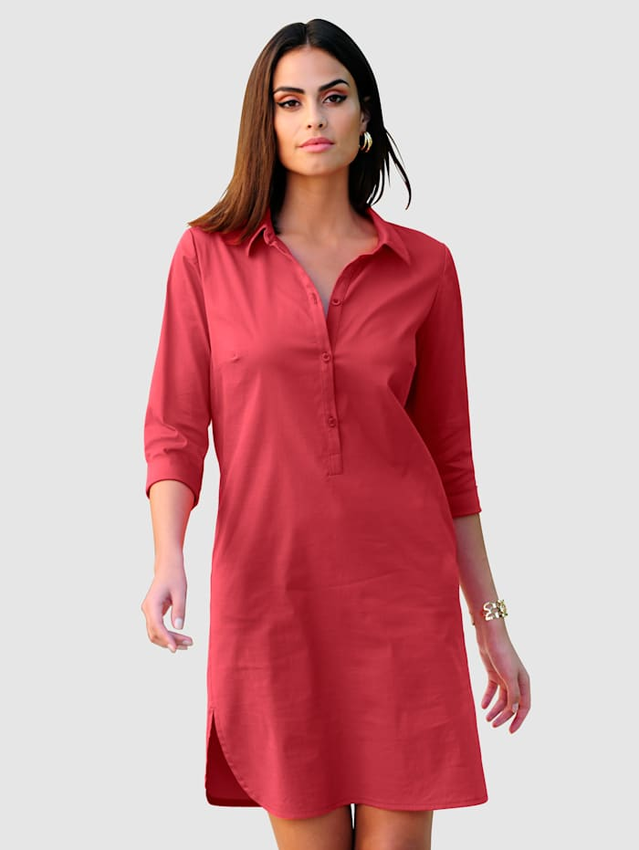 Alba Moda Hemdblusenkleid mit dreiviertel Ärmel, Koralle