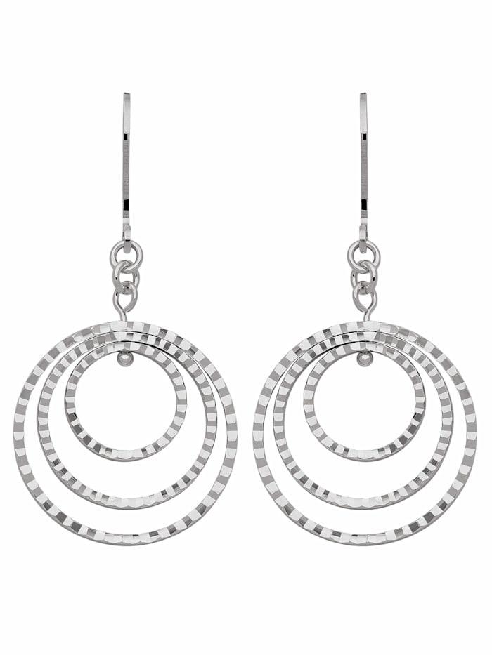 1001 Diamonds 1001 Diamonds Damen Silberschmuck 925 Silber Ohrringe / Ohrhänger Ø 22,1 mm, silber