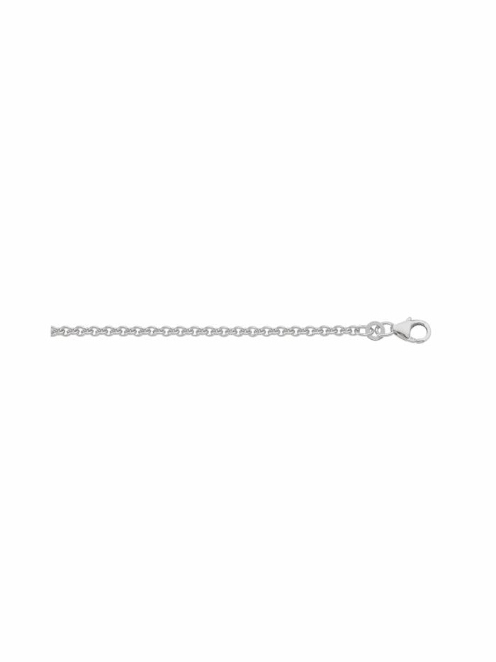 1001 Diamonds 1001 Diamonds Damen Weißgoldschmuck 333 Weißgold Anker Halskette, silber