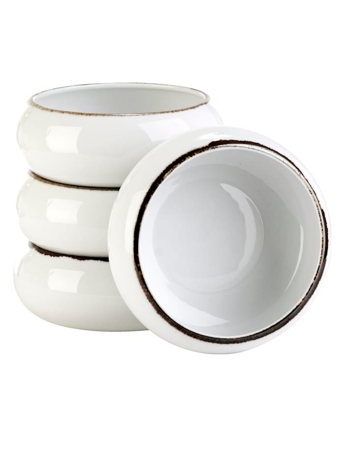 IMPRESSIONEN living Lot de 4 bols à céréales, Blanc