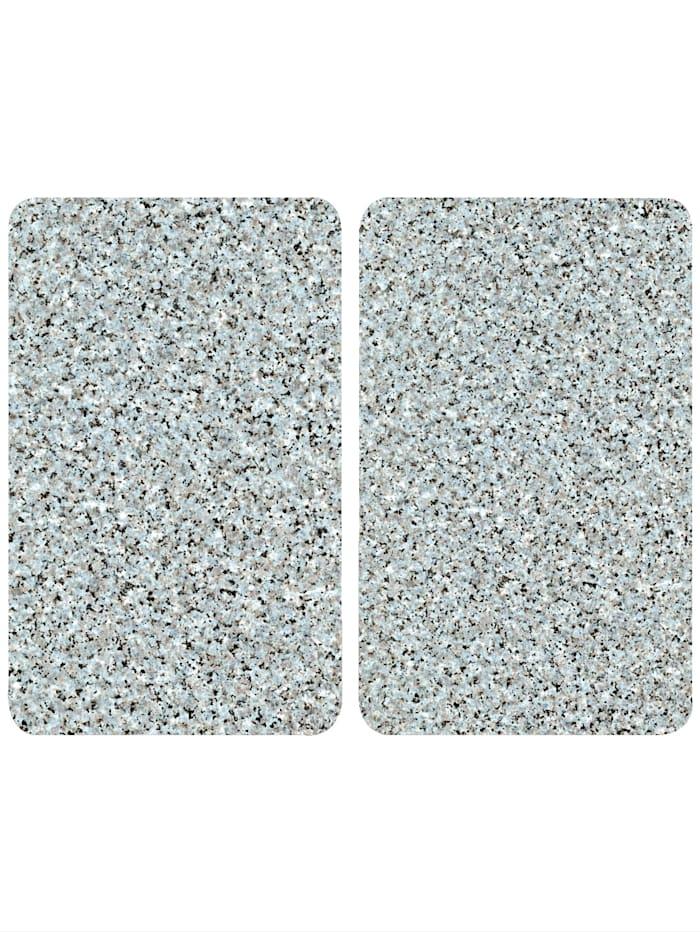 Wenko 2er-Set Herdabdeckplatten 'Granit-Optik', Granit-Optik