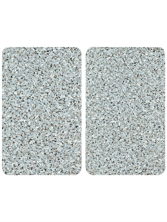"Wenko Lot de 2 protège-plaques ""Aspect granit"", Aspectgranit"