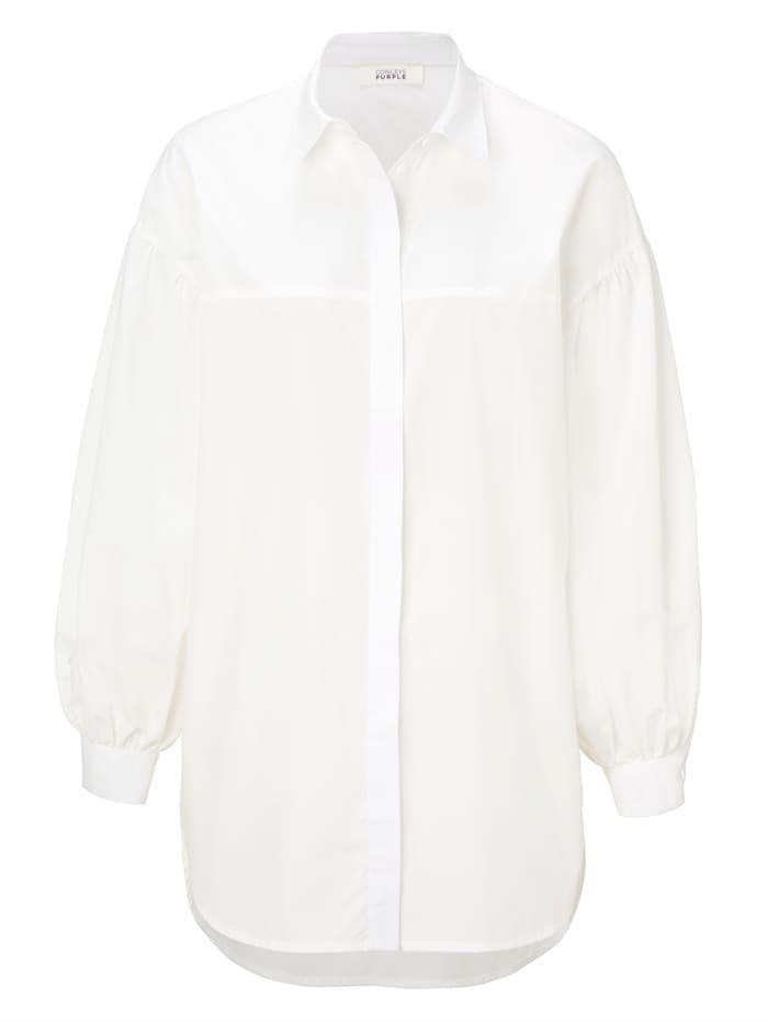 CONLEYS PURPLE Popelinebluse, Off-white