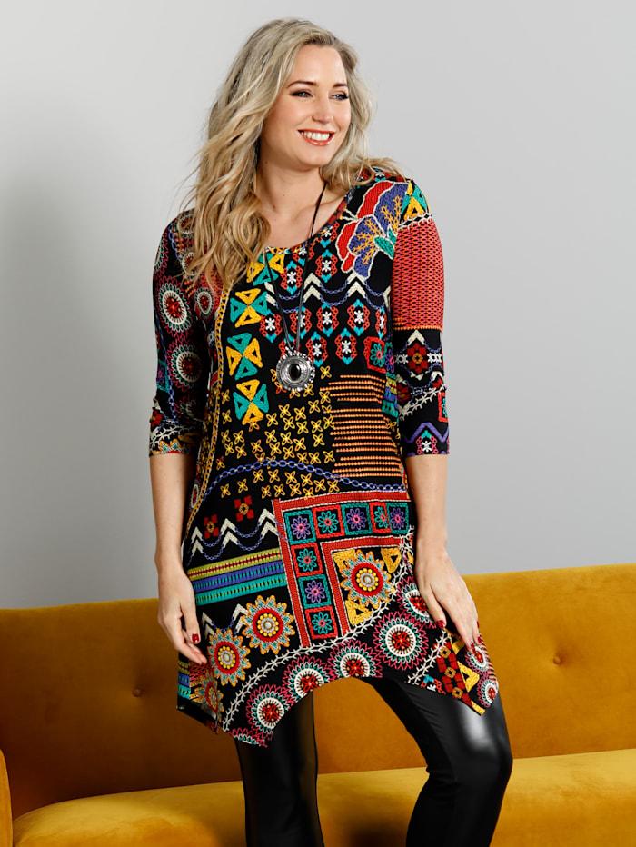 MIAMODA T-shirt asymétrique en superbes coloris, Multicolore