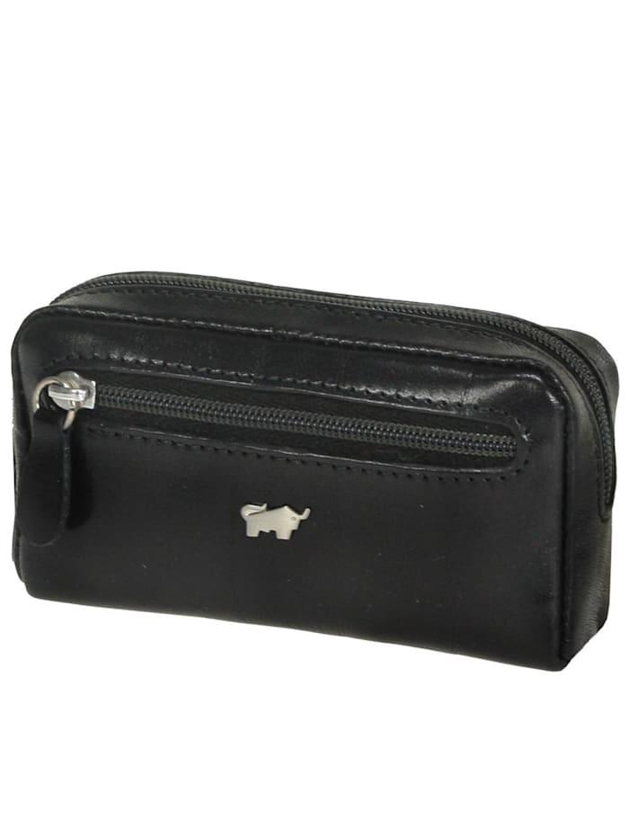 Braun Büffel Basic Schlüsseletui Leder 11 cm, nachtschwarz