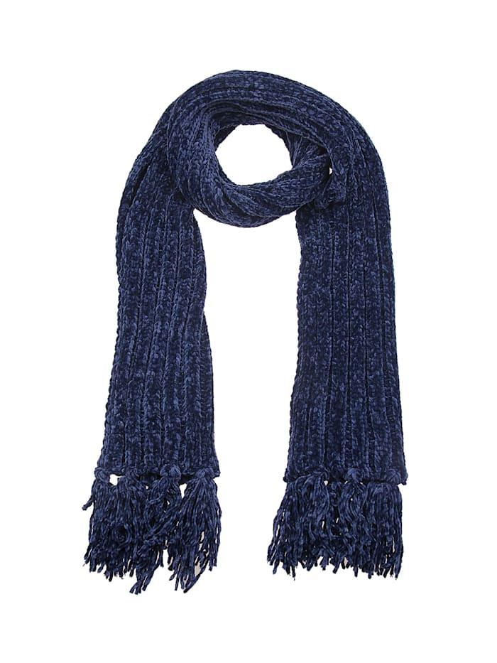 Leslii Schal mit modischem Strickmuster, blau