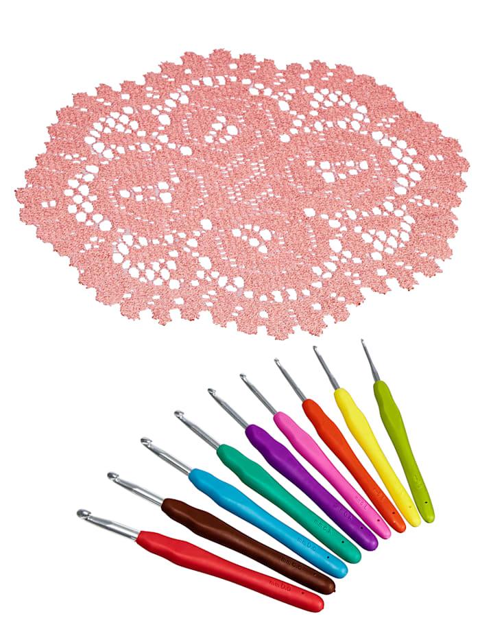 Set van 9 haaknaalden, Multicolor