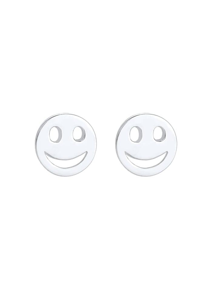 Ohrringe Kinder Smiley Plättchen Basic Trend 925 Silber