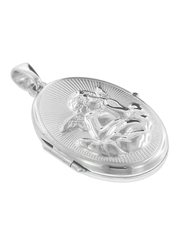 Medaillon Amor mit Venezianer Kette Silber 925