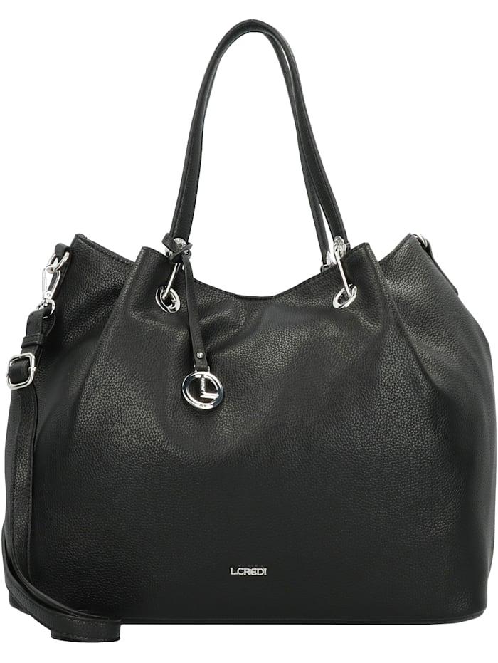 L.Credi Ebony Handtasche 38 cm, schwarz