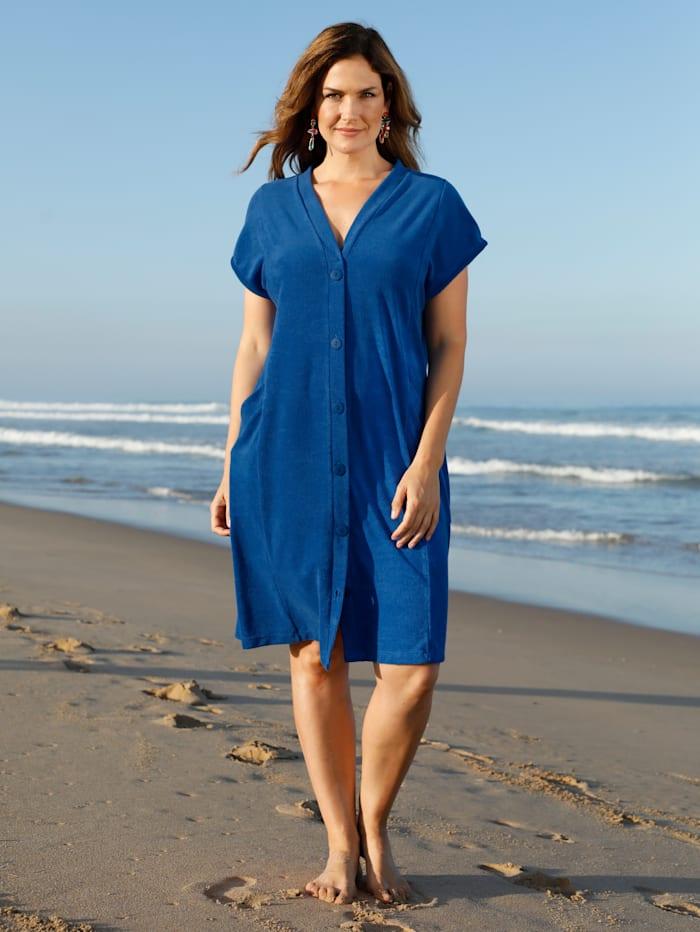 Maritim Strandjurk van comfortabele badstof, Royal blue