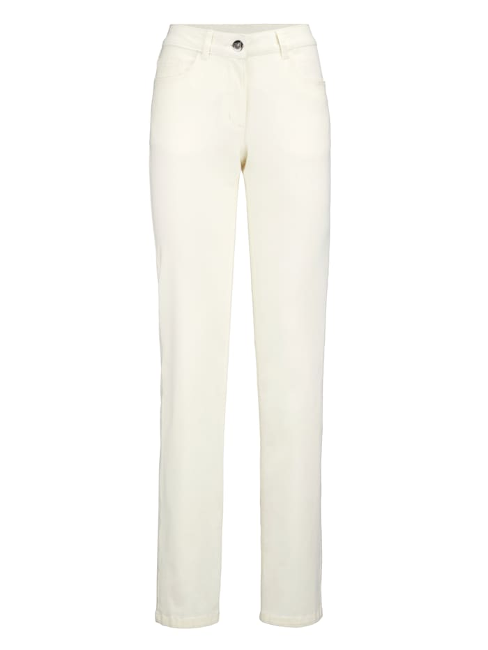 Laura Kent Jeans Laura Straight in 5-Pocket Form, Beige