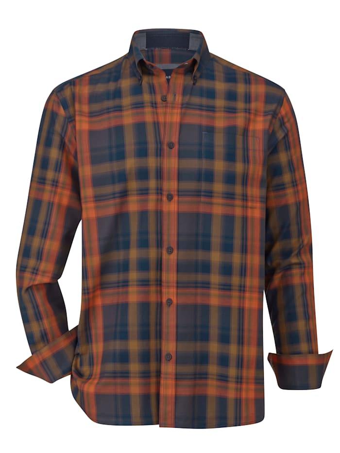 BABISTA Overhemd van fijne twill, Marine/Oranje