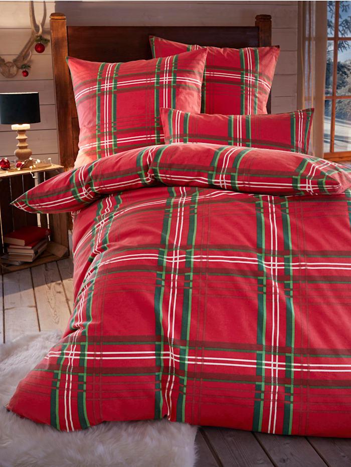 Webschatz Bedlinnen Merry, rood/groen