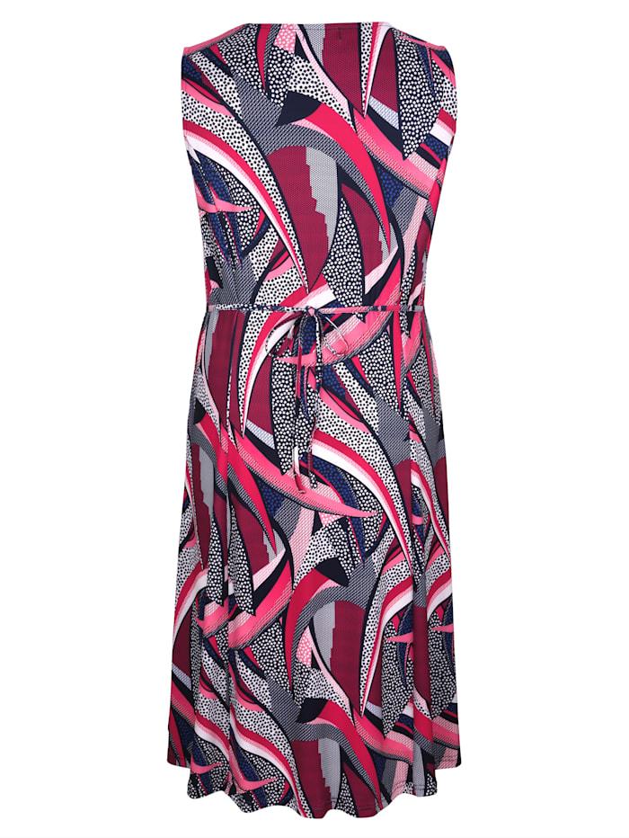 Kleid in grafischem Druckdesign