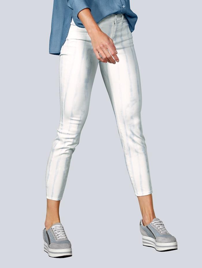 BRAX Jeans im Streifenlook, Creme-Weiß