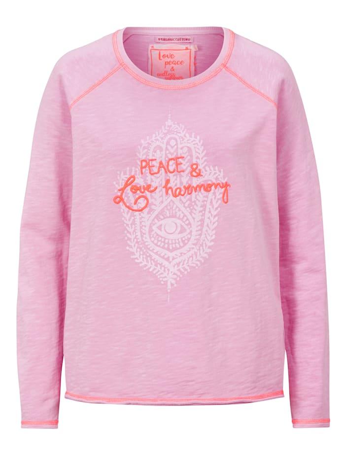 Lieblingsstück Sweatshirt mit Stickerei, Rosé