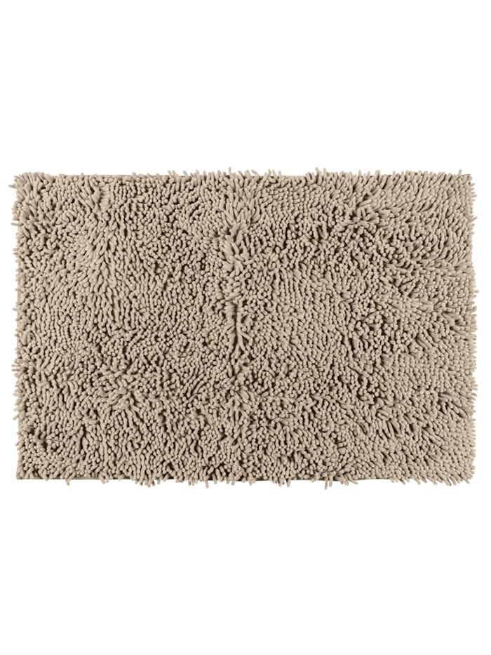 Wenko Badematte Chenille Sand, 50 x 80 cm, Oberfläche: Beige, Rückseite